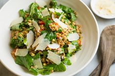 Charlie Bird's Farro Salad Recipe - NYT Cooking -Do not use all of farro - makes too much -Reduce olive oil by 2 tbsp Pasta With Green Beans, Roasted Rutabaga, Fresh Tomato Soup, Easy Roast Chicken, Ny Restaurants, Farro Salad, Roasted Salmon, Good Enough To Eat, Easy Salads