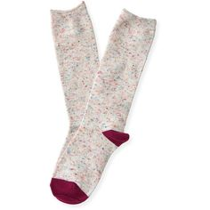 Aeropostale Donegal Boot Socks (£3.43) ❤ liked on Polyvore featuring intimates, hosiery, socks, cream, aéropostale, aeropostale socks and acrylic socks
