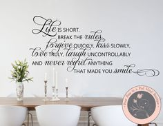 Family Wall Decals Inspirational Quote by FourPeasinaPodVinyl  sc 1 st  Pinterest & Family Wall Decals - Family Quote ****** Adding a removable wall ...