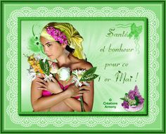 1er Mai Fête du Muguet - Créations Armony Creations, Home Decor, Bonheur, May 1, Lily Of The Valley, Spring, Cards, Decoration Home, Room Decor