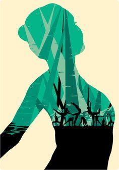 Dance Poster for The Macdonald School of Dance by Jemma Cheer, via Behance