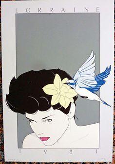 Patrick Nagel - Original Serigraph - Lorraine - 1981   eBay