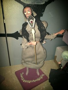 Polymer and paper clay doll  #befana