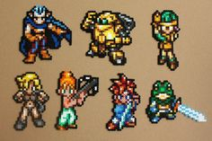 Chrono Trigger Characters Perler Hama Beads / Choose from 6 / Keychain, Magnet, Necklace and more