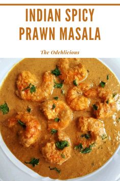 Prawn Masala is a spicy Indian prawn dish that is mix with authentic spices, coconut milk, herbs, and tomatoes. It is best to eat with plain rice or roti. #prawnmasala #shrimpmasala #prawndish
