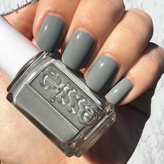 """Sit back and relax with Essie """"Now And Zen"""" ✨ This timeless gray polish is perfect for any skin tone and a great addition to any nail polish collection! Pick one up in-store or online at www.beautyplussalon.com"""