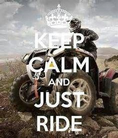 Keep calm and just ride