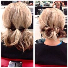 Quick, easy updo for medium length hair
