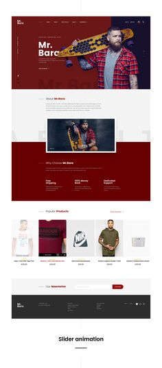 Mr.Bara - Fashion website concept