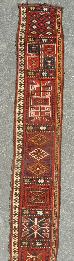 Kirgiz yurt band. Very rare, Llikely not earlier than late 19th century. 7ft 6in long and 15 inches wide. More at www.banjaratextiles.com