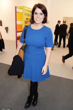 Art fan: Princess Eugenie of York attends the VIP Preview of the Frieze Art Fair 2014 in Regent's Park in a chic blue dress teamed with black tights and ankle boots Read more: http://www.dailymail.co.uk/femail/article-2792449/princess-eugenie-pretty-blue-rubs-shoulders-tamara-ecclestone-grayson-perry-art-show.html#ixzz3G8Mq8JAS Follow us: @MailOnline on Twitter | DailyMail on Facebook