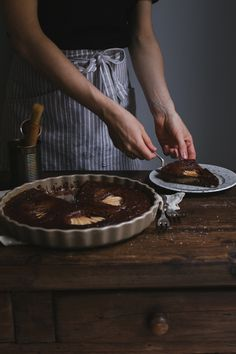 Magnolias for her — delta-breezes:   Chocolate Pear Clafoutis...