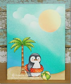 Happy Thoughts & Inkspots: One last Summer Card ~ MFT