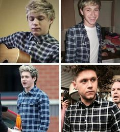 Niall with plaid through the years