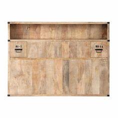 Tête de lit avec rangements en manguier massif L 140 cm