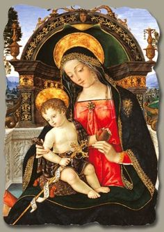 Pinturicchio | Santa Maria dei Fossi Altarpiece (detail), fresco reproduction on plaster