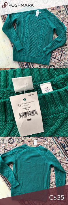 GAP BNWT Green Cable Knit Sweater Gorgeous green cable knit sweater from GAP! Size small - unfortunately just doesn't fit me right 😭 such a beautiful jelly green colour! 100% cotton. Such a gem! Brand new with tags. From a pet and smoke free home 😊 GAP Sweaters Crew & Scoop Necks Marled Sweater, Cotton Sweater, Gap Sweaters, Cable Knit Sweaters, Light Blue Sweater, Striped Knit, Long Sleeve Sweater, Jelly, Gem