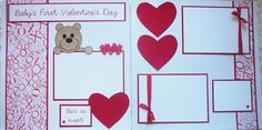 BABY'S FiRsT VALENTINES DAY 12x12 premade by JourneysOfJoy on Etsy, $25.00