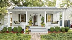 Now It's a Classic Southern Porch   These beauts are going to make you want to sit and stay a while. From screened in numbers to double stacked fixer-uppers, these porches make us want to kick up our feet and take in the view. But, they weren't always that way. Check out our best before and after porch makeovers.