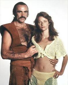 """Charlotte Rampling with Sean Connery for """"Zardoz"""" (1974)"""