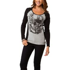 Metal Mulisha Womens Shadowplay Long-Sleeve Shirt