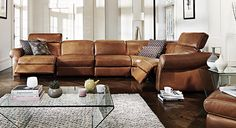 The supremely comfortable Italian #leather Salerno #recliner sofa, made by Private Label by #Natuzzi Group.