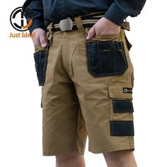 2017 Men Tactical Shorts Military Oxford Waterproof Rip Stop Short Multi Pocket Trousers Men Summer Bermuda Plus size ID625