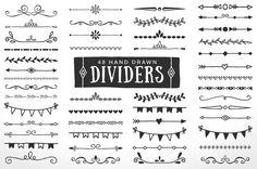 Hand Drawn Dividers Borders by AzmariDigitals on @creativemarket