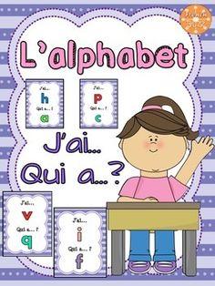 "L'alphabet (minuscules) - jeu amusant ""j'ai... qui a...?"""