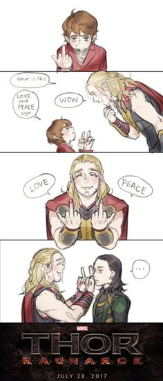 This is what happens when you let Martin Freeman join Marvel. Source: http://reammm.tumblr.com/post/118287800512/welcome-martin-freeman-to-marvel-universe