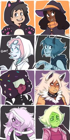 """a bit late but I made the su spoopy icons! (be free to use them as icons!)"" by Ikimaru"