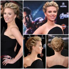 One of my favorite updos. Classic. Soft. Scarlett Johansson. Hair. Bridal.
