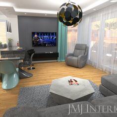 turkusowe zasłony, betonowa ściana  Flat Screen, Electronics, Living Room, Blood Plasma, Flatscreen, Dish Display, Consumer Electronics