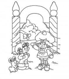 Charlotte with strawberry coloring page 43