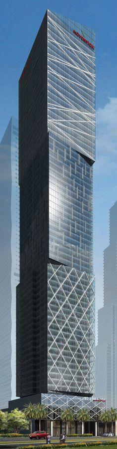 Mövenpick Hotel Residences, Makati, Manila Philippines by Rchitects :: 74 floors, height 244m