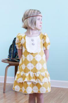 Native Princess mustard drop waist ruffle dress - LottieDaBaby on Etsy