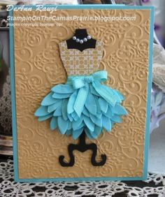 Dress framelits, textured brocade embossing folder, artisan kit