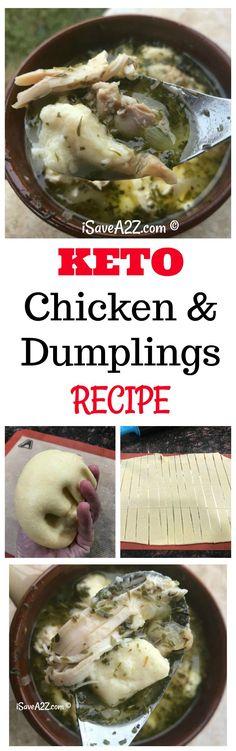 Keto Chicken and Dumplings that is FULL of flavor! via @isavea2z
