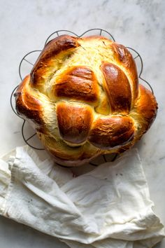 Made with extra-virgin olive oil, this challah is especially rich and complex tasting. A little bit of grated citrus zest, if you choose to use it, adds a welcome brightness to the soft, slightly sweet loaf, which is also flavored with orange juice. If you'd prefer a more classic challah, substitute a neutral oil such as safflower or grapeseed for the olive oil and leave out the zest. (Photo: Andrew Scrivani for The New York Times)