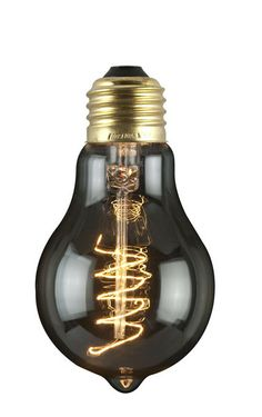 Black 60 Watts Round Bulb