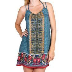 Get #FestivalReady in this Hawaiian Print Sleeveless Dress! #shinelikethestars