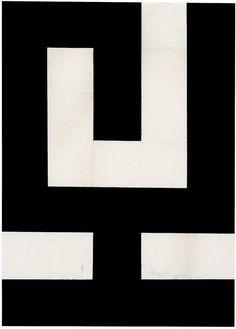 HermannGlöckner, The Calyx /Der Kelch (Aufgerichtetes Monogramm), 1971. Tempera on folded paper. Germany.Source