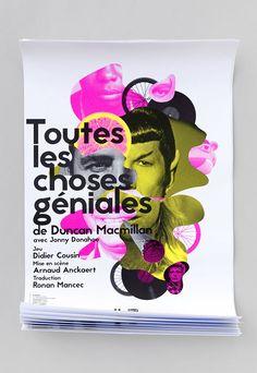 Cie Théâtre du prisme - Toutes les choses géniales Duncan, Web Design, Design Graphique, Scene, Collages, France, Staging, Gaming, Products