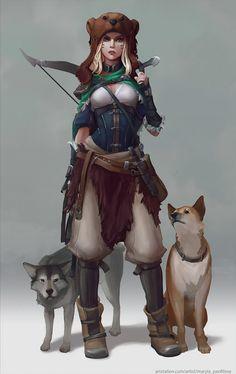 Forest huntress, Maria Panfilova on ArtStation at https://www.artstation.com/artwork/AE9gW