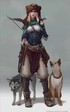 Forest huntress, Maria Panfilova on ArtStation at https://www.artstation.com/artwork/AE9gW