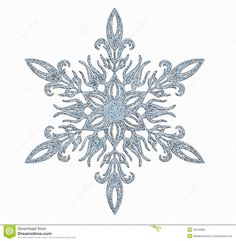 Illustration about Decorative frosted snowflake on white background. Illustration of white, cold, frozen - 35542889