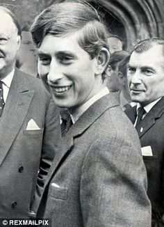 Like father like son: Prince Charles as a first-year at Cambridge in 1967