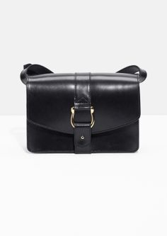 & Other Stories | Push Pin Buckle Leather Crossbody