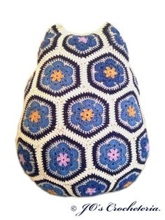 Crochet Pattern Maggie the African Flower Owl by JOsCrocheteria