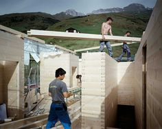 Leis houses. Vals. Peter Zumthor. Walter Mair photography